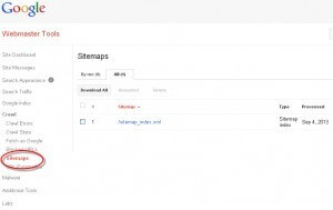 Don't leave it to chance - tell Google where your sitemap is using Google Webmaster Tools