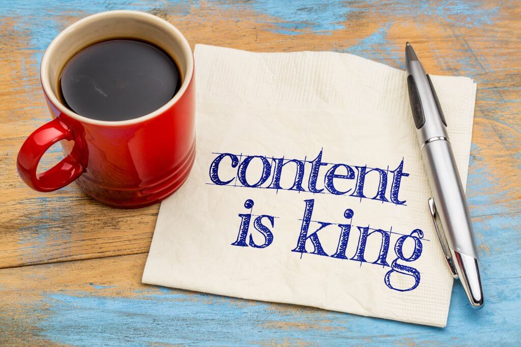 Content is King written on napkin